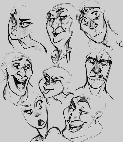Line Drawing Tumblr Tutorial : Урок Выражения лица cg magazine