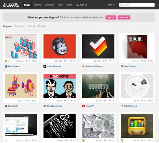 Публикуйте фрагменты работ на Behance, Flickr, Dribbble и deviantART