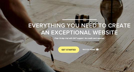 Squarespace – хорошая платформа для создания сайта-портфолио