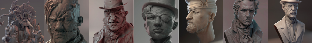 Работа цифрового скульптора Джеймса В Кейна