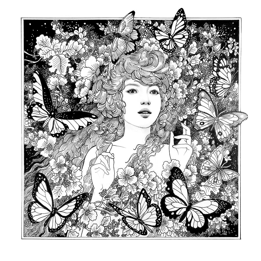 Книга-раскраска Энни Стегг